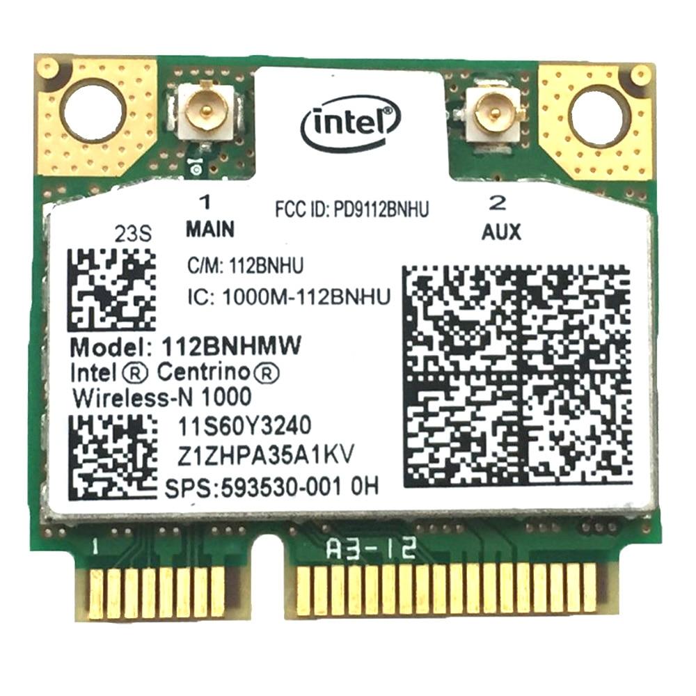 Original Intel Centrino Wireless-N 1000 112BNHMW 300Mbps 2.4GHz  Wifi Half Mini PCI E Card Network card