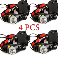 4PCS 1200lm CREE Q5 LED Headlamp Headlight For Bicycle Hunting Camping Outdoor Lighting Zoom In Out