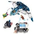79129 Bloques Huecos de Super Heroes Avengers The City Chase Quinjet Aviones Modelo Juguetes Para Niños