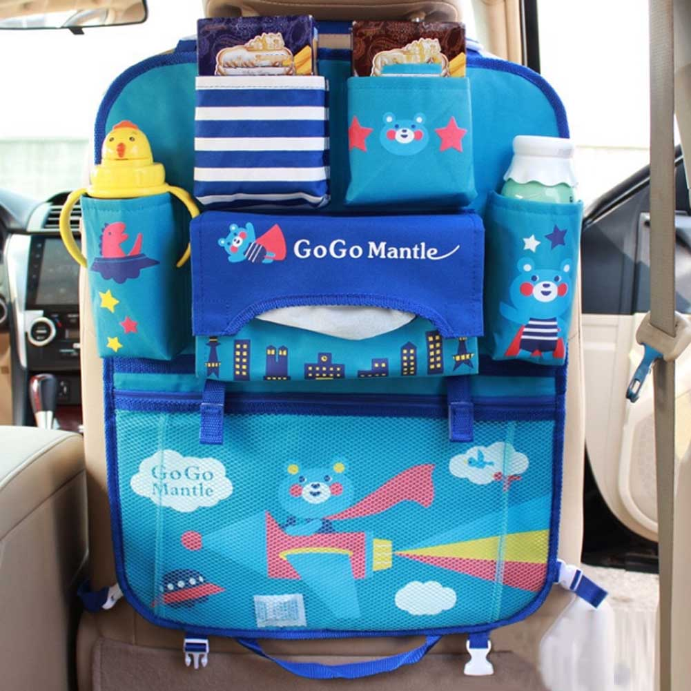 Car Accessories Seat Storage Hanging Bags Cars Chair Back Bag Multifunction Vehicle Baby Cartoon Convenient Receive Bag Styling
