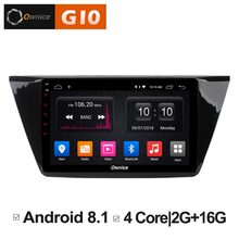 Android 8.1 gb RAM Quad Core 2 + 16 gb ROM DVD Player Do Carro Para Volkswagen VW Touran 2016 GPS navegação Estéreo Rádio BT 4g WI-FI(China)