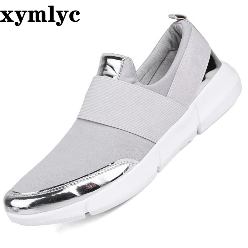 Women Summer casual Shoes Slip On Lady Casual Breathable Sneakers Ultralight Flats Loafers Shoes Zapatos Mujer Plus Size 35-42(China)