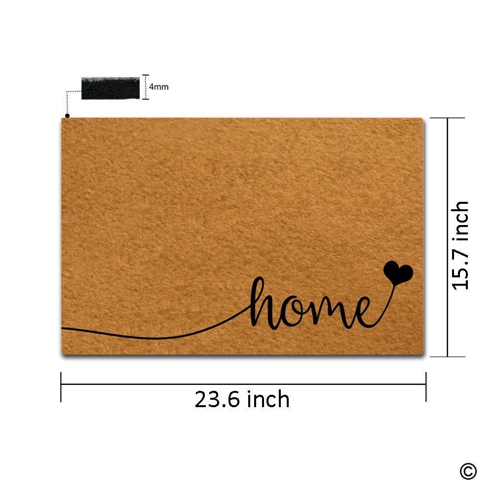 Doormat Entrance Floor Mat Sweet Home Indoor Outdoor Decorative Door Entry Way Machine Washable Top