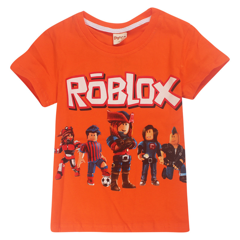 Childrens Day Childrens Boys Tops T-shirts Comic Shirts Childrens Wear ROBLOX RED NOSET2018 New Summer Short Sleeve Tops