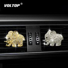 Diamond Elephant Car Perfume Clip Ornaments Dashboard Decoration Accessories Interior  Air Outlet Hanging Pendant