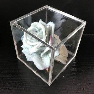 13x13x13 cm transparent acrylique cube bijoux présentoir boîte de faveur cadeau de mariage