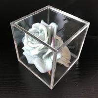 13x13x13cm transparent acrylic cube jewelry display box wedding gift favor box