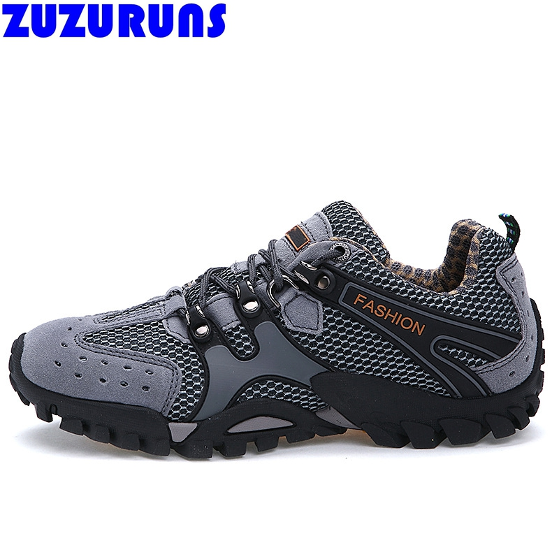 ФОТО new hot sell men breathable casual shoes low top flat trekking climbing trainers shoes mens flats shoes big plus large size 322v