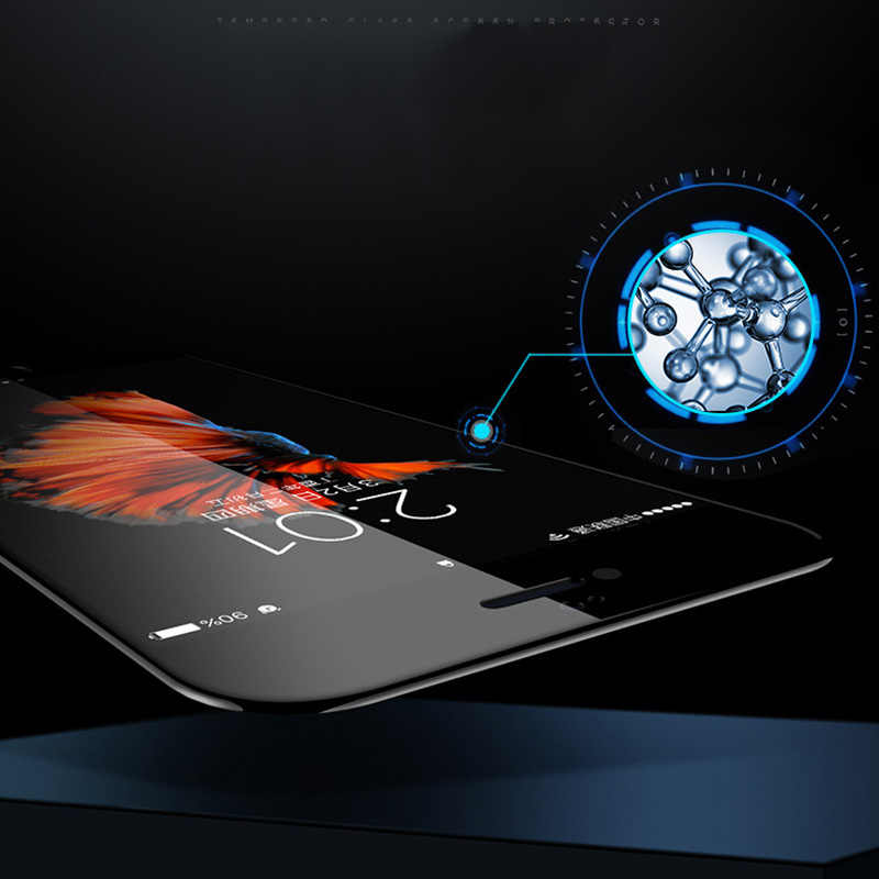 5D الزجاج المقسى آيفون 7 6 6 s زائد واقي للشاشة X XR XS Max 8 7 Plus غطاء زجاج واقي آيفون XR 7 Plus 6 s X