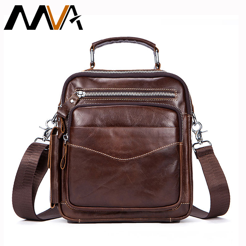 8c1880e545 MVA Crossbody Bags for Men Genuine Leather Shoulder Bags Male Zipper Messenger  Bags Men Leather Top