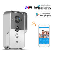 HD 720P Wireless Wfi Video Door Phone Doorbell Intercom Camera Via Mobile Smart Phone Control Unlock