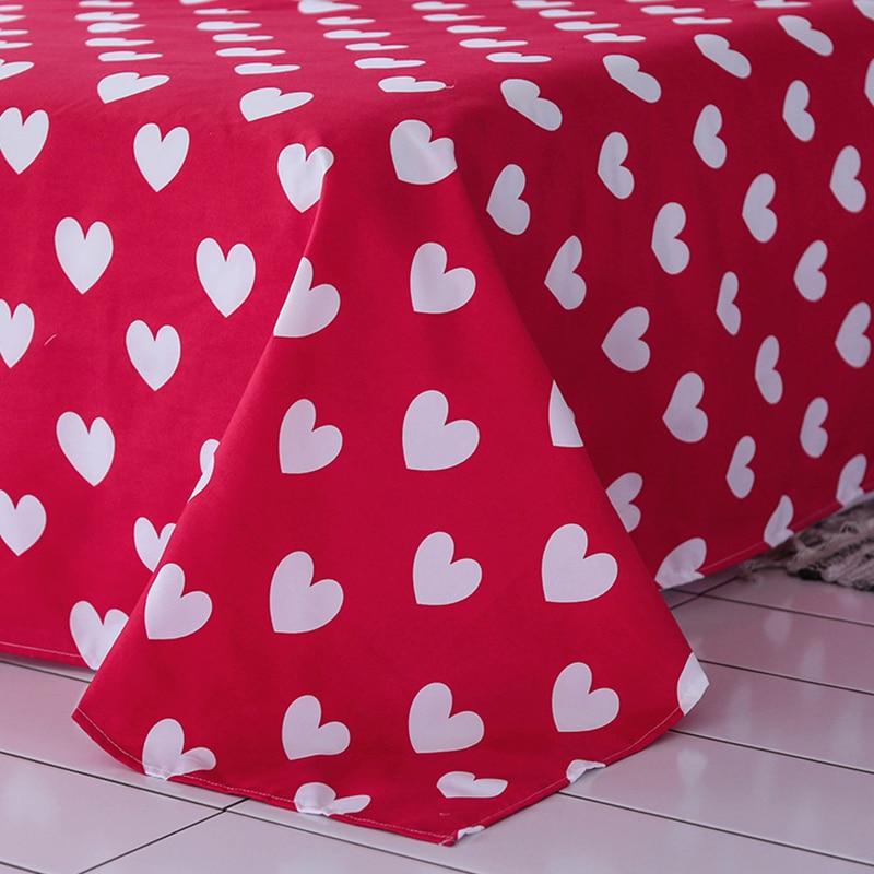 Solstice Home Textile Hot Love Bedding Sets Girl Adult Teen Linens Red Heart Fashion Duvet Cover Pillowcase Flat Bed Sheet Queen