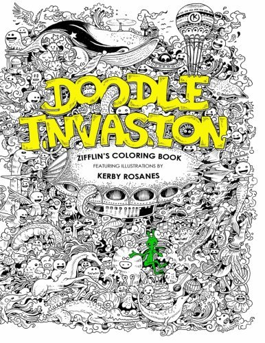 Doodle Invasion Zifflins Coloring Book English Fashion Books Adult