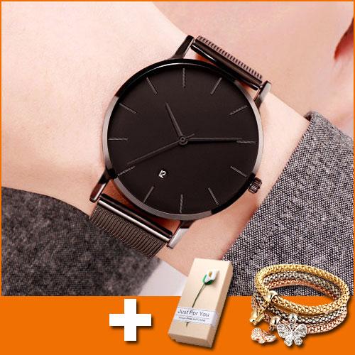 Black Wrist Watch Women Watches Ladies Fashion Casual Style Wristwatch New Female Quartz Watch For Women Clock Reloges Hodinky