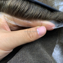 Hairpiece, sistema de pelucas para hombre de encaje suizo, para hombre, línea de cabello natural, cabello humano, envío gratis