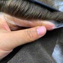 פאה גבר שוויצרי תחרה שיער מערכת פיאות mens לגברים טבעי קו שיער שיער טבעי משלוח חינם