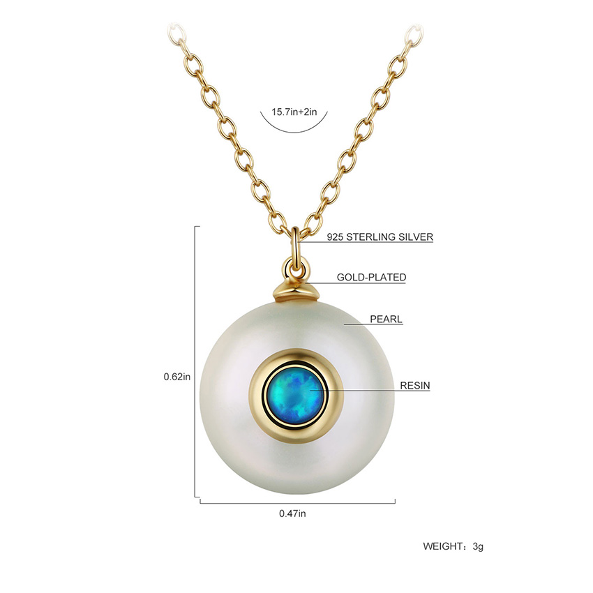 HTB1ZWXyXPnuK1RkSmFPq6AuzFXaF Hongye 2019 New Fashion Freshwater Pearl Necklace Women 925 Sterling Silver Chain 12mm Pearl Pendant  Jewelry Necklace For Gift