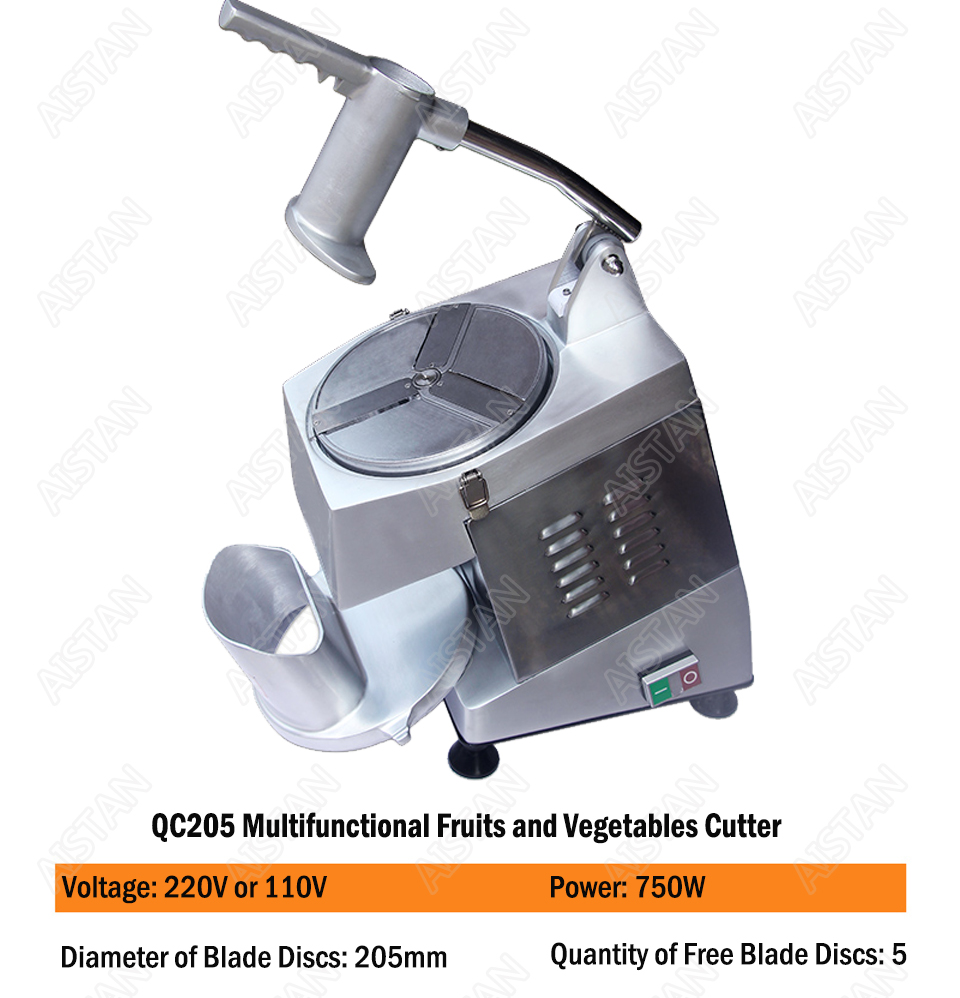 QC205 electric multi-purpose vegetable fruit cheese cutter dicing, cubing, slicing, stripped, grater slicer or shredded machine 4