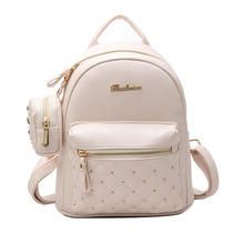 Fashion Women Mini Backpack PU Leather College Shoulder Satchel School Rucksack Ladies Girls Casual Travel Bag mochilas mujer недорго, оригинальная цена