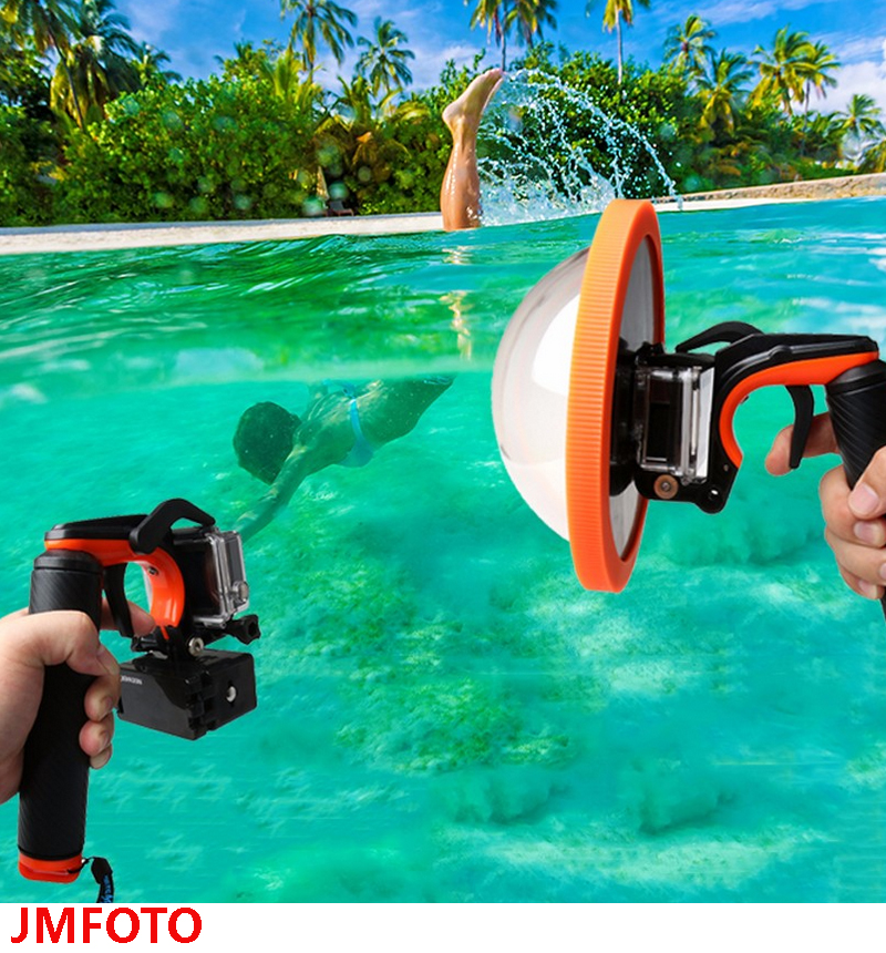 Gopro Accessories Underwater Diving Lens Hood Dome Shutter Stabilizer Trigger Floating Handle Mount Tripod for Go pro Hero 4 3+ floating hand grip handle mount for gopro hero hd 1 2 3 3
