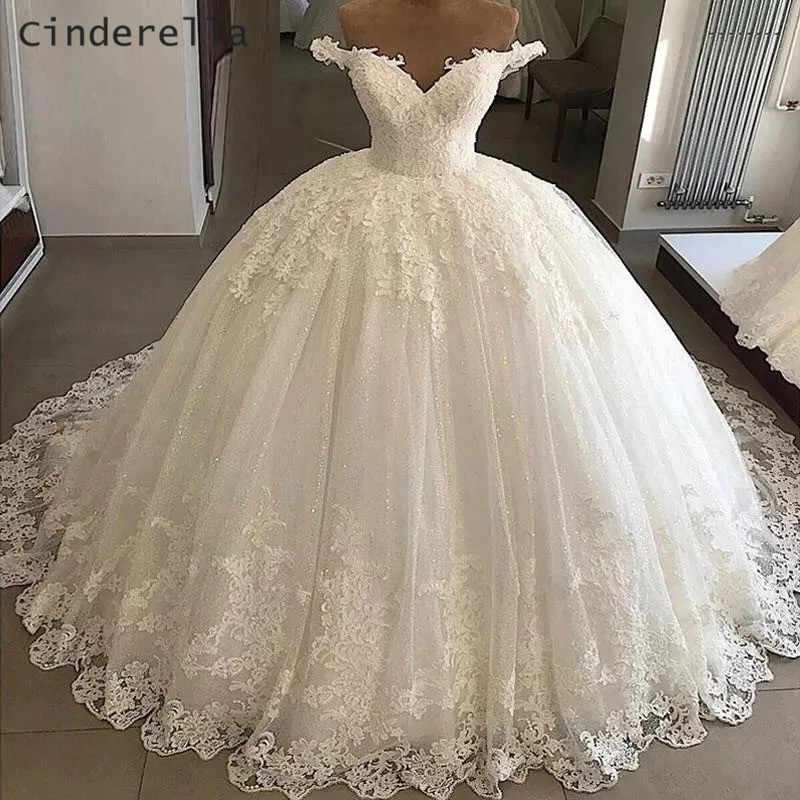 Cinderella V Neck Off The Shoulder Lace Up Back Lace Applique Crystal Beaded Satin Ball Gown Wedding Dresses Bridal Dresses Aliexpress,Used Wedding Dresses Mn