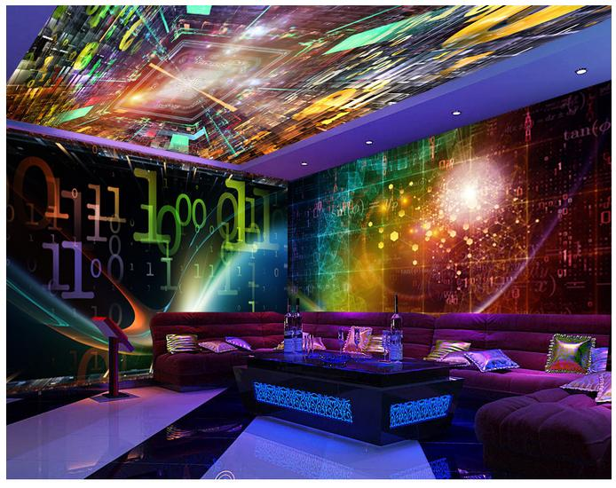 Compare prices on 3d wallpaper for nightclubs online for Ceiling mural in a smoker s lounge