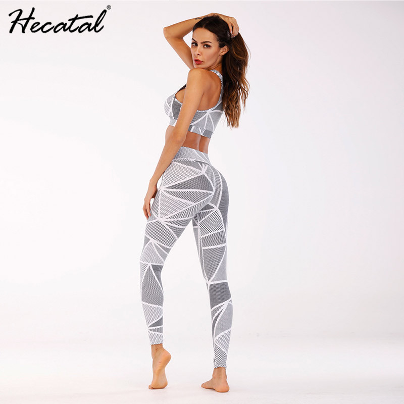 Women 39 s Yoga Set 2 Pieces Sports Bra and Leggings for Women 3D Printed Gym Sports Clothing Female Quick Dry Tracksuit in Yoga Sets from Sports amp Entertainment