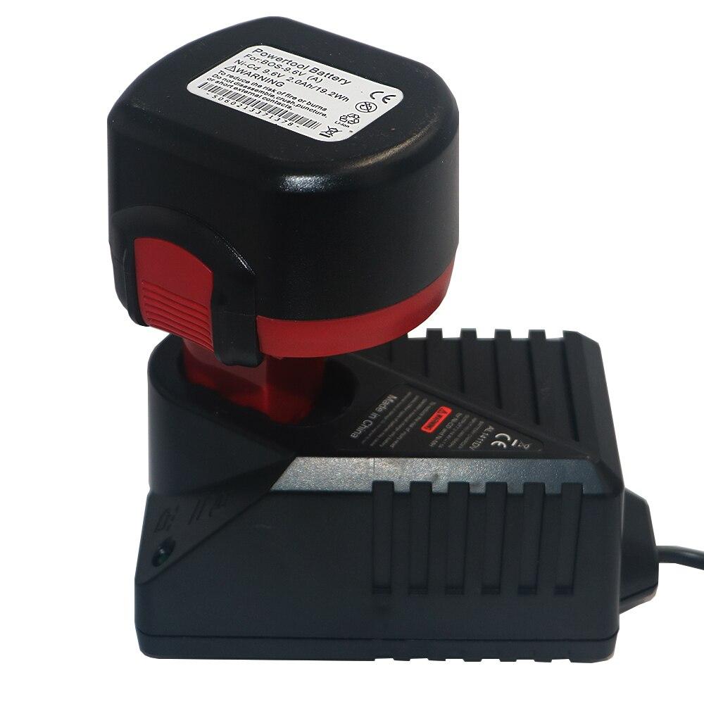 DVISI BAT048 9.6 V 3000 mAh Puissance Outils Rechargeable Batterie avec Remplacement AL1411DV Chargeur pour Perceuse Bosch PSR 960 Ni-MH
