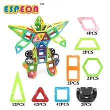 Espeon 115 PCs Robot Régulière Éclairer Briques Éducatifs Magnétique Designer Construction BRICOLAGE Blocs de Construction Jouets Pour Enfants