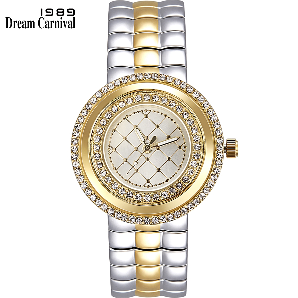 Dreamcarnival 1989 Recommend Elegant Ladies Watches 3 Colors Quartz Watch Women Slim Clock Party Fashion Brand Crystals A8370-in Women's Watches from Watches