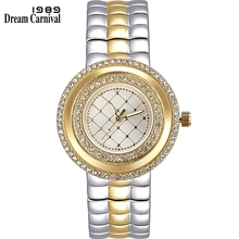 Dreamcarnival 1989 Recommend Elegant Ladies Watches 3 Colors Quartz Watch Women Slim Clock Party Fashion Brand Crystals A8370