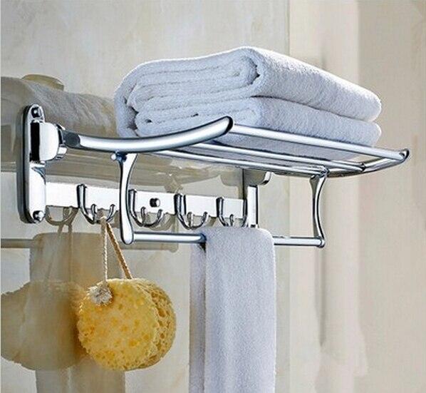 Бесплатная доставка 60 см нержавеющая сталь l вешалка для полотенец один крючок аксессуары для ванной комнаты ткань стойки многофункциональ...