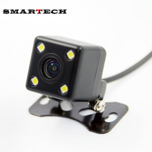 SMARTECH Impermeable Full HD Coche Cámara Trasera 4 LED de Visión Nocturna Cámara de Visión Trasera de Ayuda Al Aparcamiento Cámara Universal