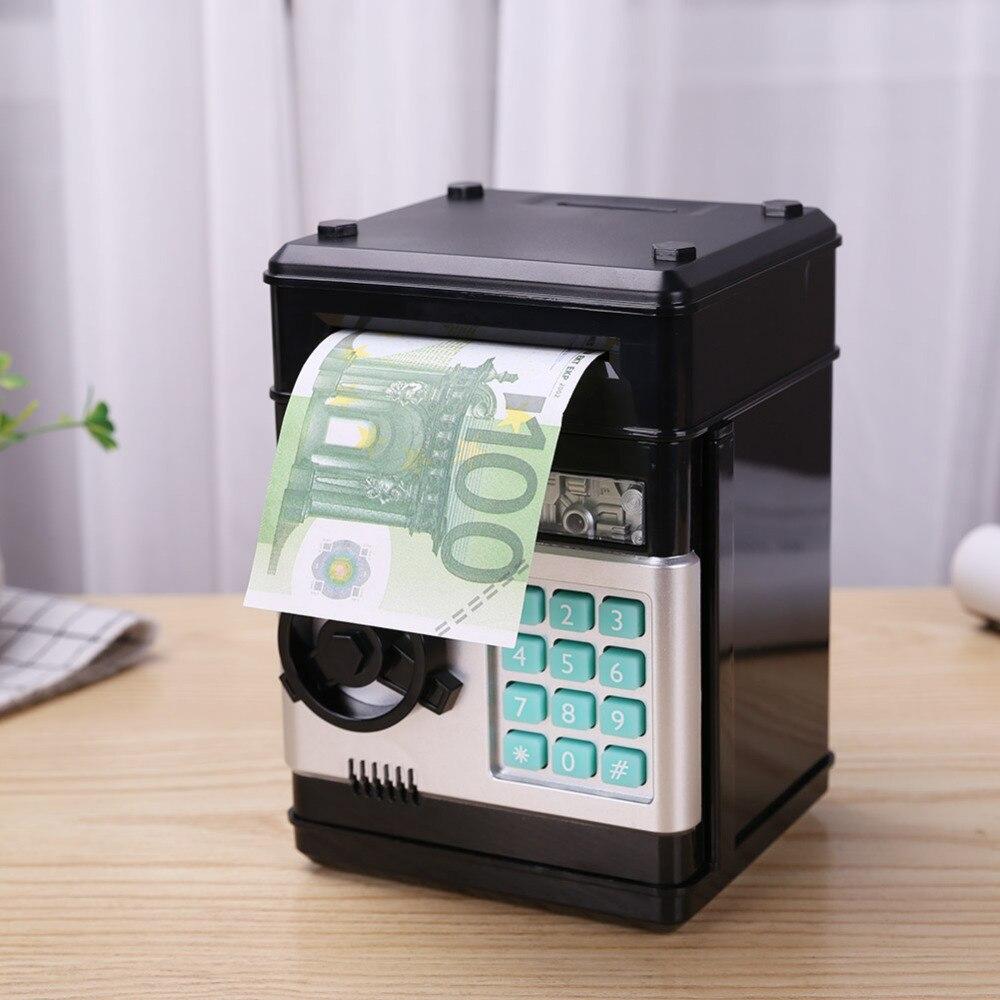 Tirelire électronique ATM mot de passe tirelire pièces de monnaie boîte d'économie ATM banque coffre-fort automatique enfants pièce de monnaie banque d'argent coffre-fort