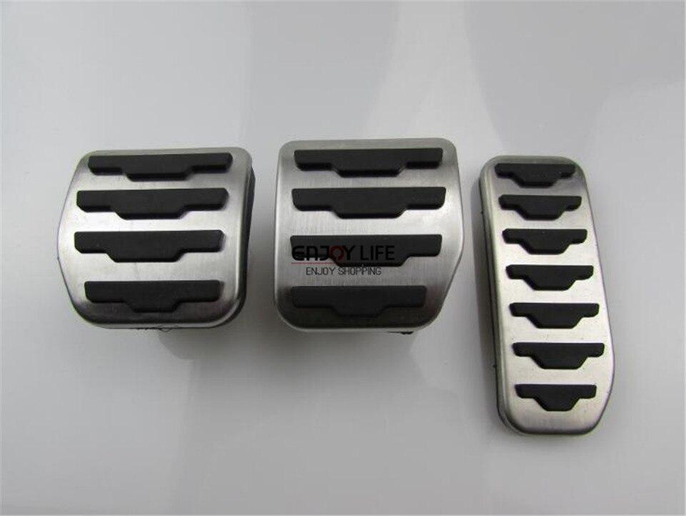 3 шт. MT Нержавеющаясталь газового топлива сцепные педаль Обложка для LR Range Rover Evoque 2011-2015