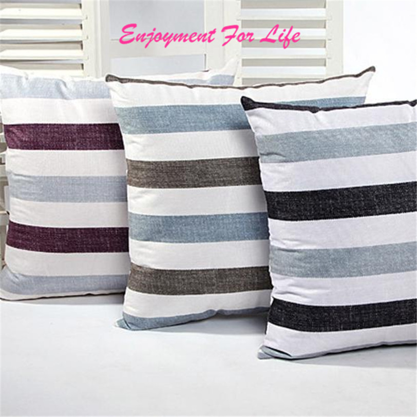 2016 High Quality New Arrival Elegant Nice Hot Sale Stripe Sofa Bed Home  Decor Pillow Case