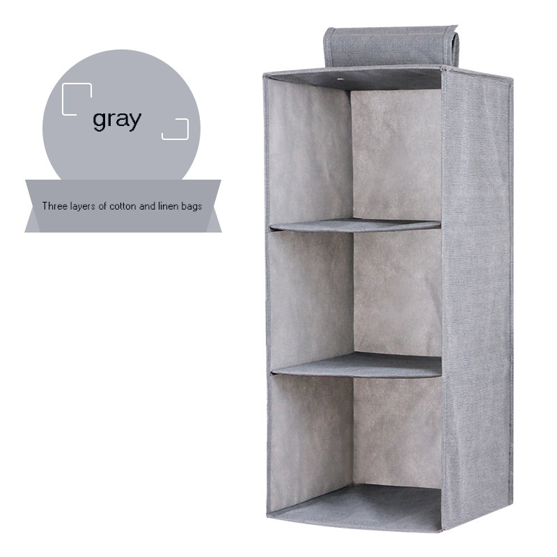 Hanging Clothes Drawer Organizer and Cotton Clothes Storage Box with Compartments 2