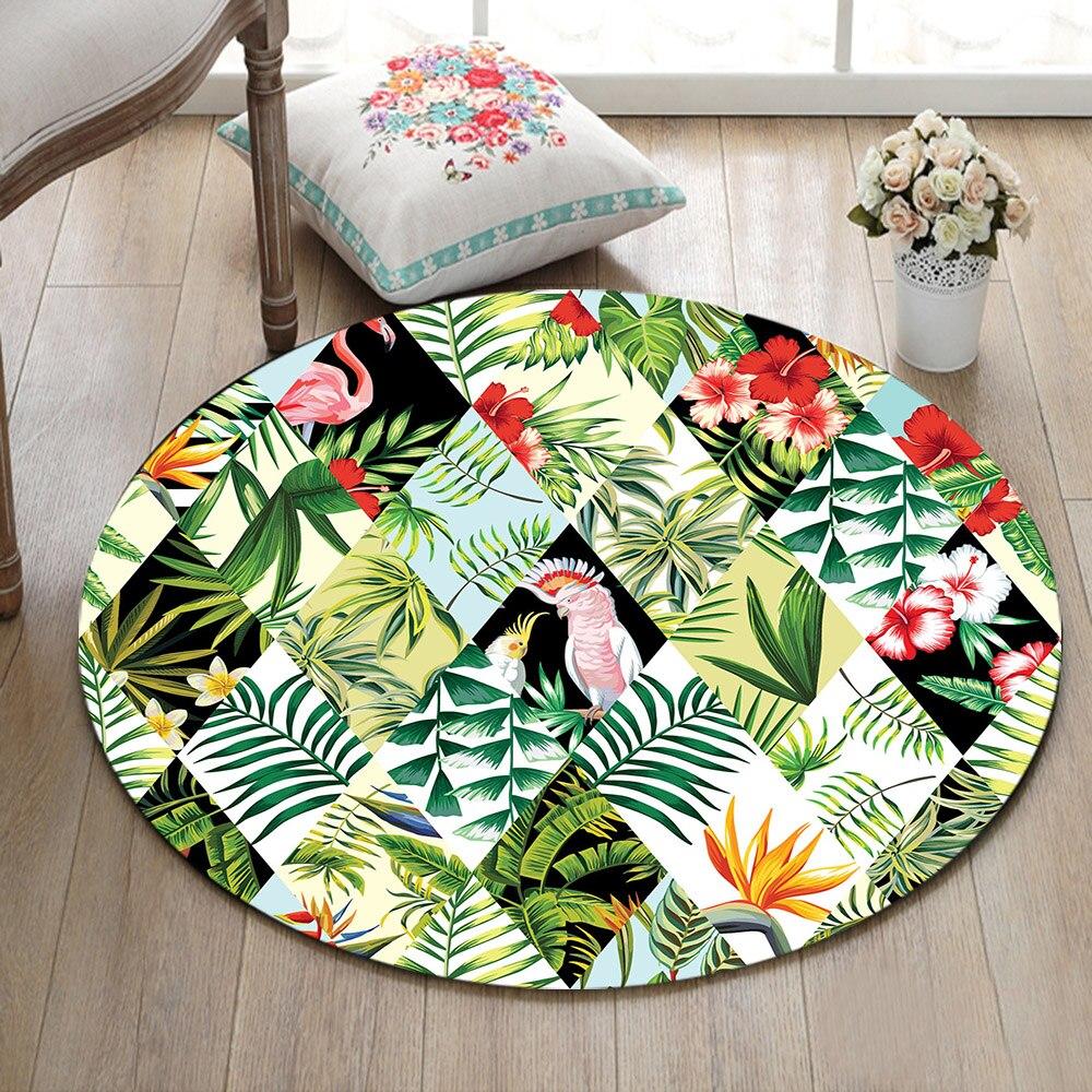 Living Room//Bathroom//Bedroom Round Carpet Floor Non-Slip Rug Room Bath Door Mat