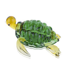 H&D Mini Sea Turtle Model Glass Figurines Fairy Garden Miniatures Fish Tank Acessories Home Table Decoration Birthday Gifts(China)