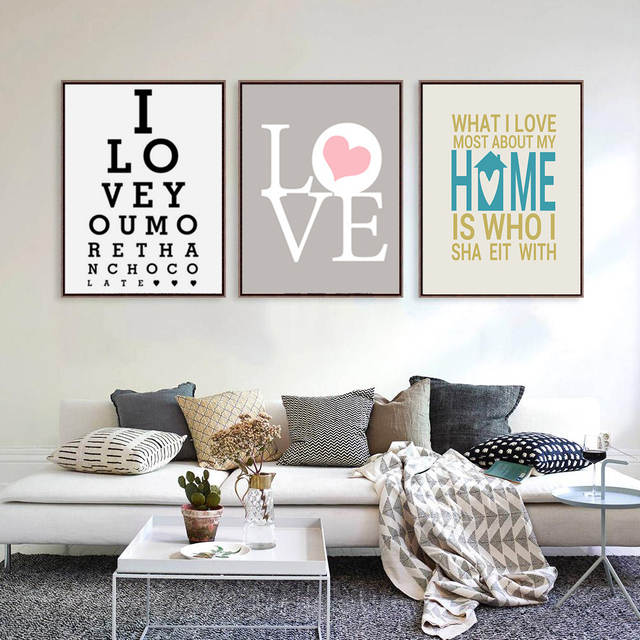 Online Shop Haochu Modern Typography Life Love Quotes Print Poster