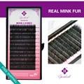Genie 3pcs/lot Real Mink Fur Eyelash Extensions C 8/10/12mm Salon Use Professional Eyelashes