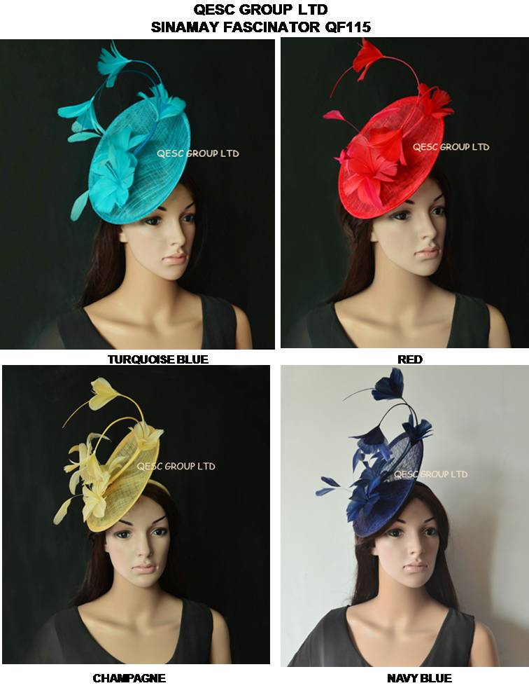 New Arrival sinamay Feather Fascinator Hat for Melbourne cup Wedding Kentucky Derby Ascot Races Tea Party