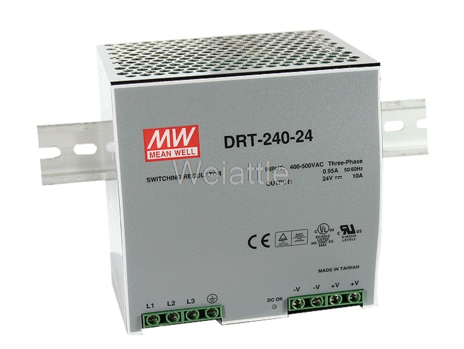 MEAN WELL original DRT-240-24 24V 10A meanwell DRT-240 24V 240W Single Output Industrial DIN RAIL Power Supply