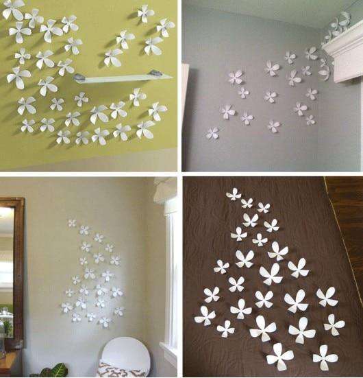 Pcslot DIY D Wallsticker Cm Vivid Flower Wall Sticker Home - How do you put up wall art stickers