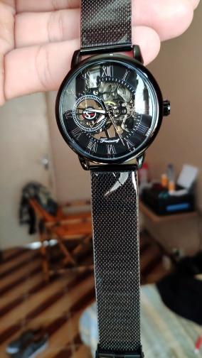 HTB1ZWZYaGSs3KVjSZPiq6AsiVXaw Forsining Retro Fashion Design Skeleton Sport Mechanical Watch Luminous Hands Transparent Mesh Bracelet For Men Top Brand Luxury