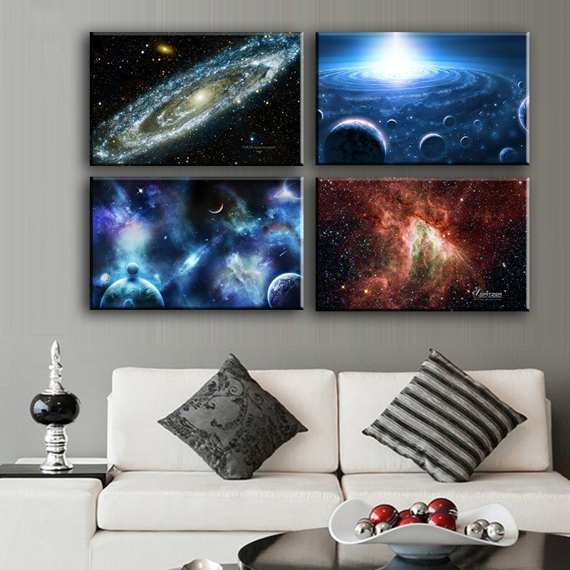 Canvas Painting Wall Art 4pcs Space Body Wall Painting