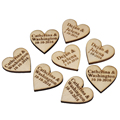 50 Pieces Personalized Engraved Wood Hangs Love Heart Centerpieces Wedding Table Decoration Favors Customized Candy Tags