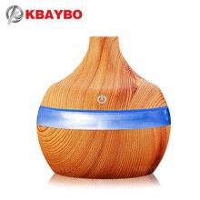 Здесь можно купить  USB Aroma Humidifier Aromatherapy Wood Grain 7 Color LED Lights Electric Aromatherapy Essential Oil Aroma Diffuser 300ml humidif  Household Appliances