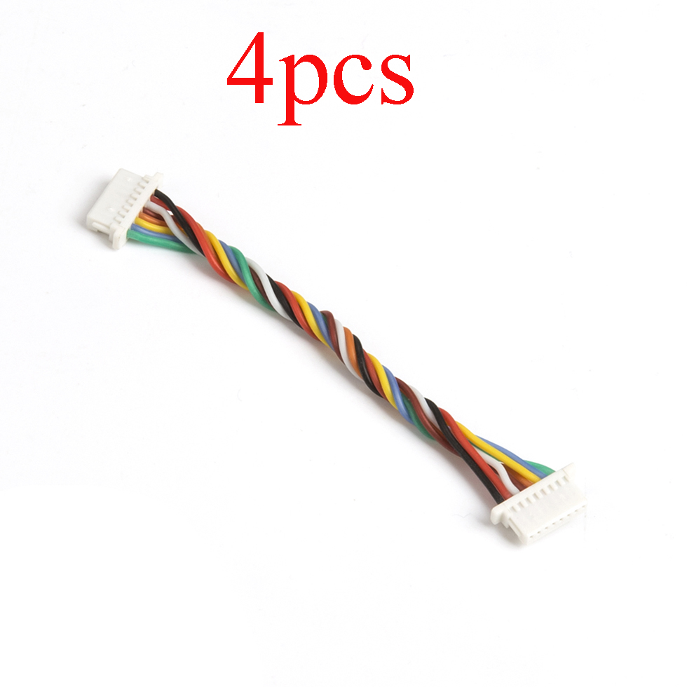 4PCS FPV 5pin 8pin Double Terminal Line FC <font><b>35A</b></font> Dshot1200 4 in 1 <font><b>ESC</b></font> Connection Cable AWG 30 Length 60mm Wire for RC Racing Quad image