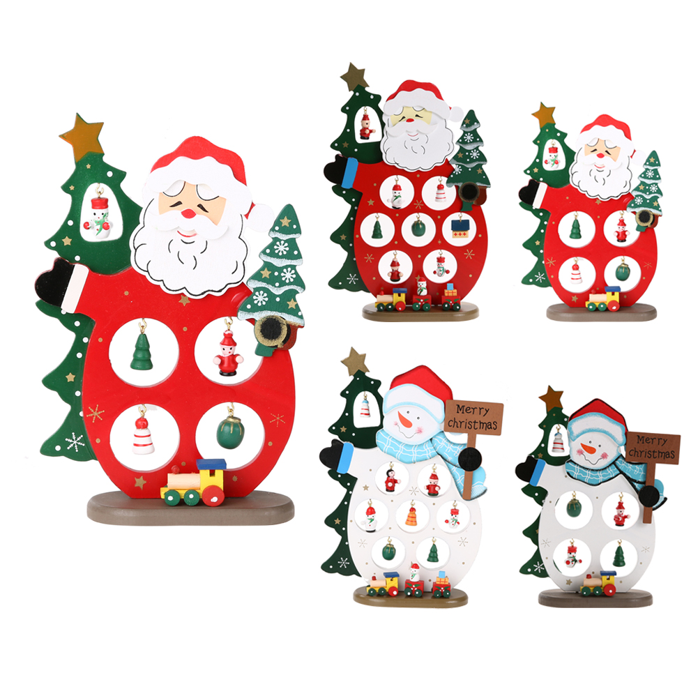 Cool Snowman Decoration Ornaments For Christmas Tree: Creative Christmas Gift Wooden Christmas Tree Home